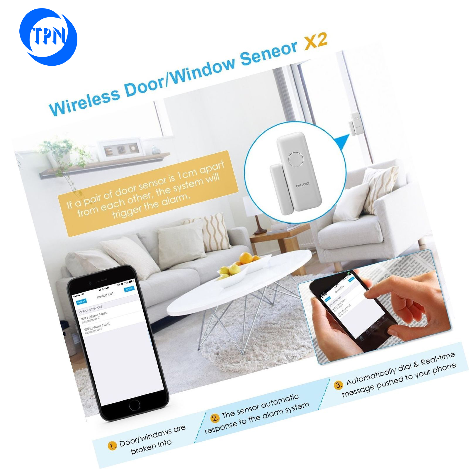 TPN Home and Business Alarm TPN-WT-103